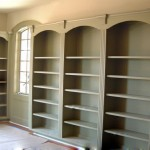 Burrows Cabinets - Office 11 Bookcase with flutes and arched top rail