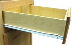 Burrows Cabinets' standard drawer guides