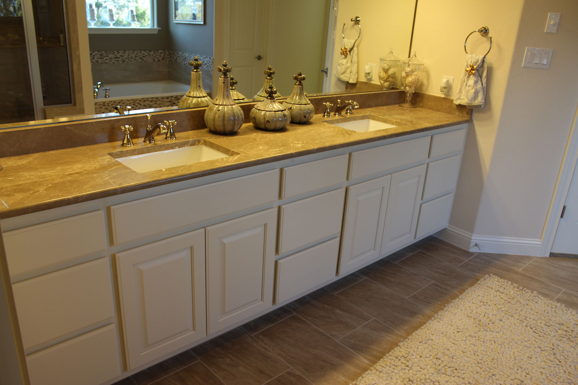 Burrows Cabinets Bathroom Vanity Cabinets painted