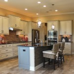 Kitchen cabinet 1 by burrows cabinets painted bone white for Bone white kitchen cabinets
