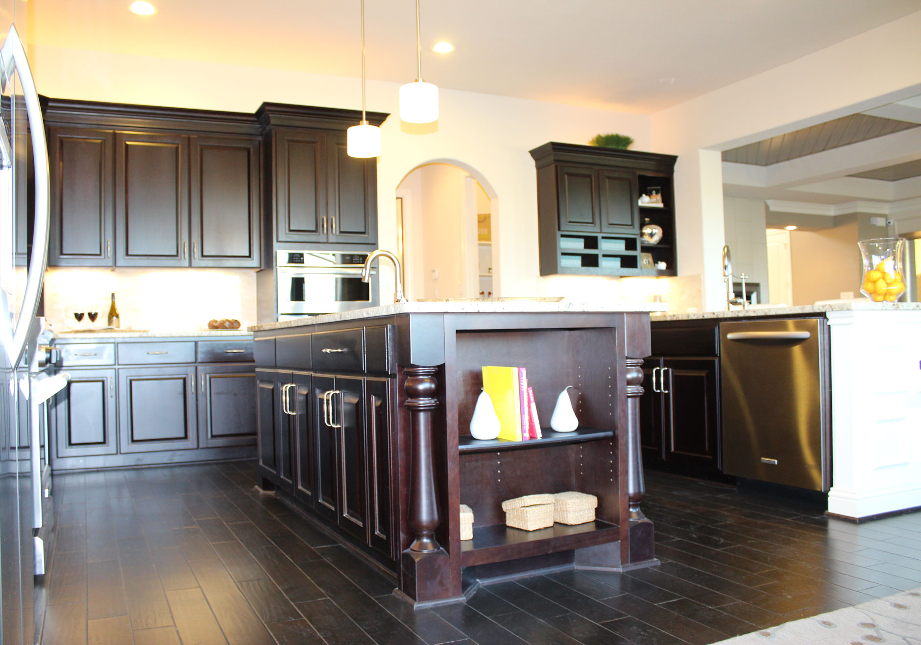 Kitchen Island Burrows Cabinets central Texas builder direct