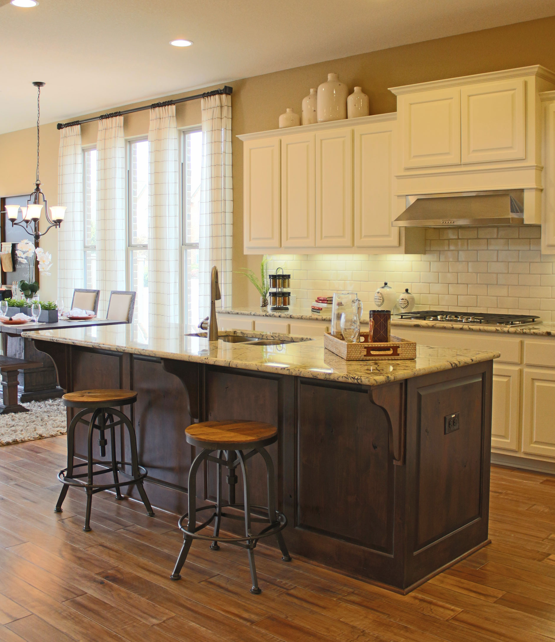 Kitchen Island - Burrows Cabinets - central Texas builder ...