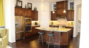 Burrows Cabinets Kitchen 8 in knotty alder