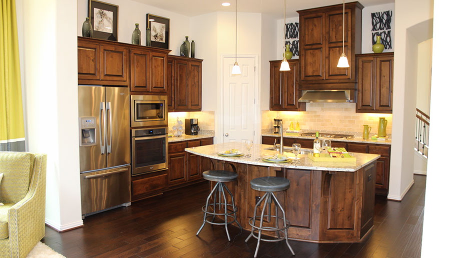 ... Burrows Cabinets Kitchen 8 In Knotty Alder
