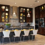 Custom Kitchen Cabinet 09 by Burrows Cabinets with modern slab veneered doors in stained Clear Alder