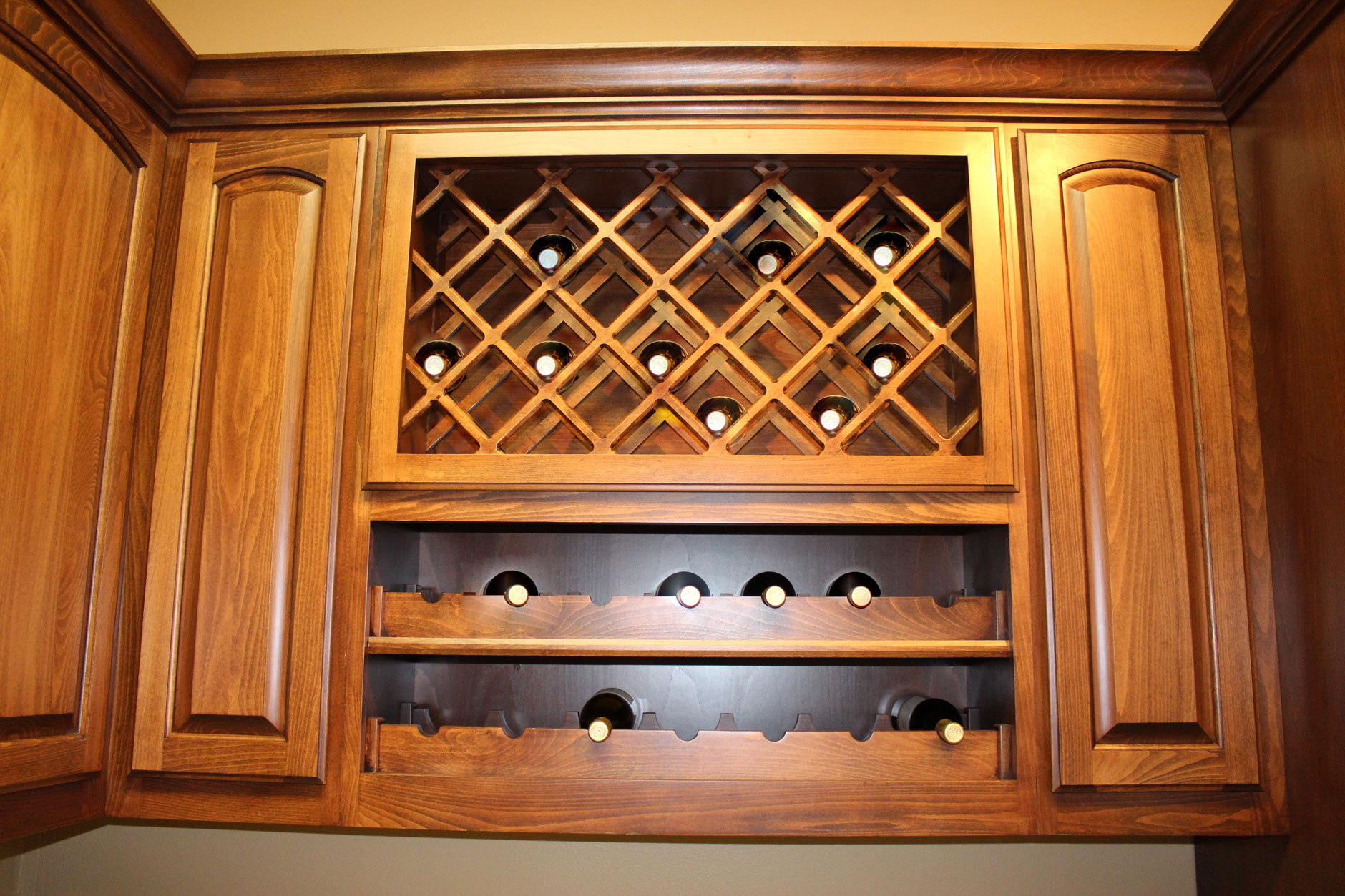 Lattice Wine Rack Over Scalloped