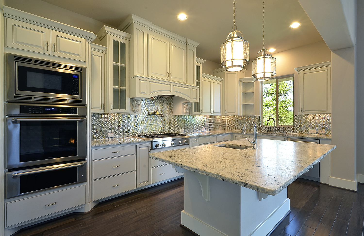 Image gallery kitchen hoods dimensions - Burrows Cabinets White Kitchen With Elite Vent Hood