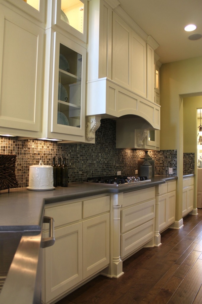 Burrows cabinets kitchen cabinet 21 with briscoe door style in bone