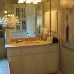 Master bath vanity in bone