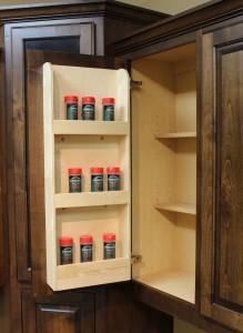 Door mounted spice rack