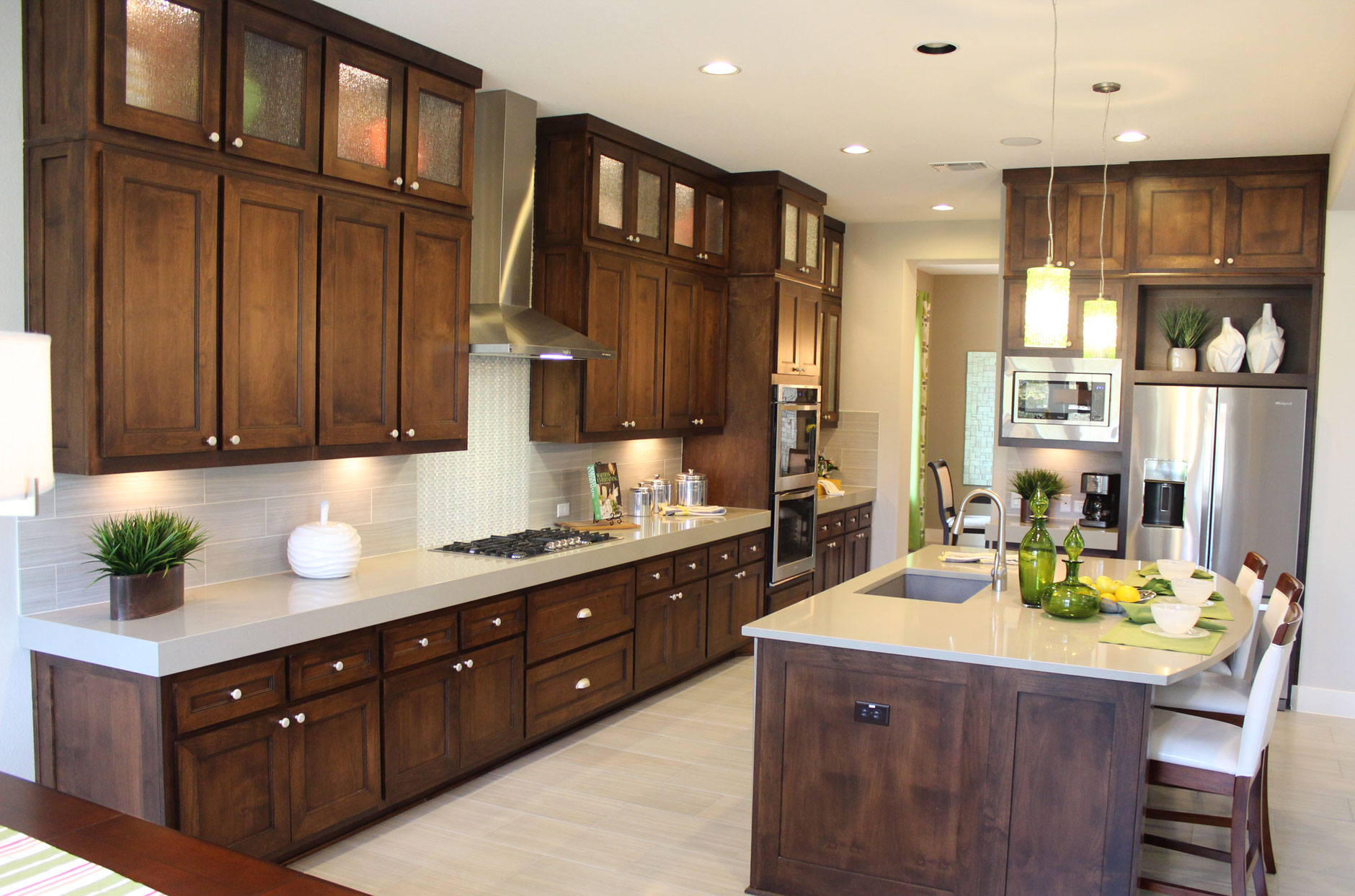 Kitchen cabinets by Burrows Cabinets with modern crown molding and ...