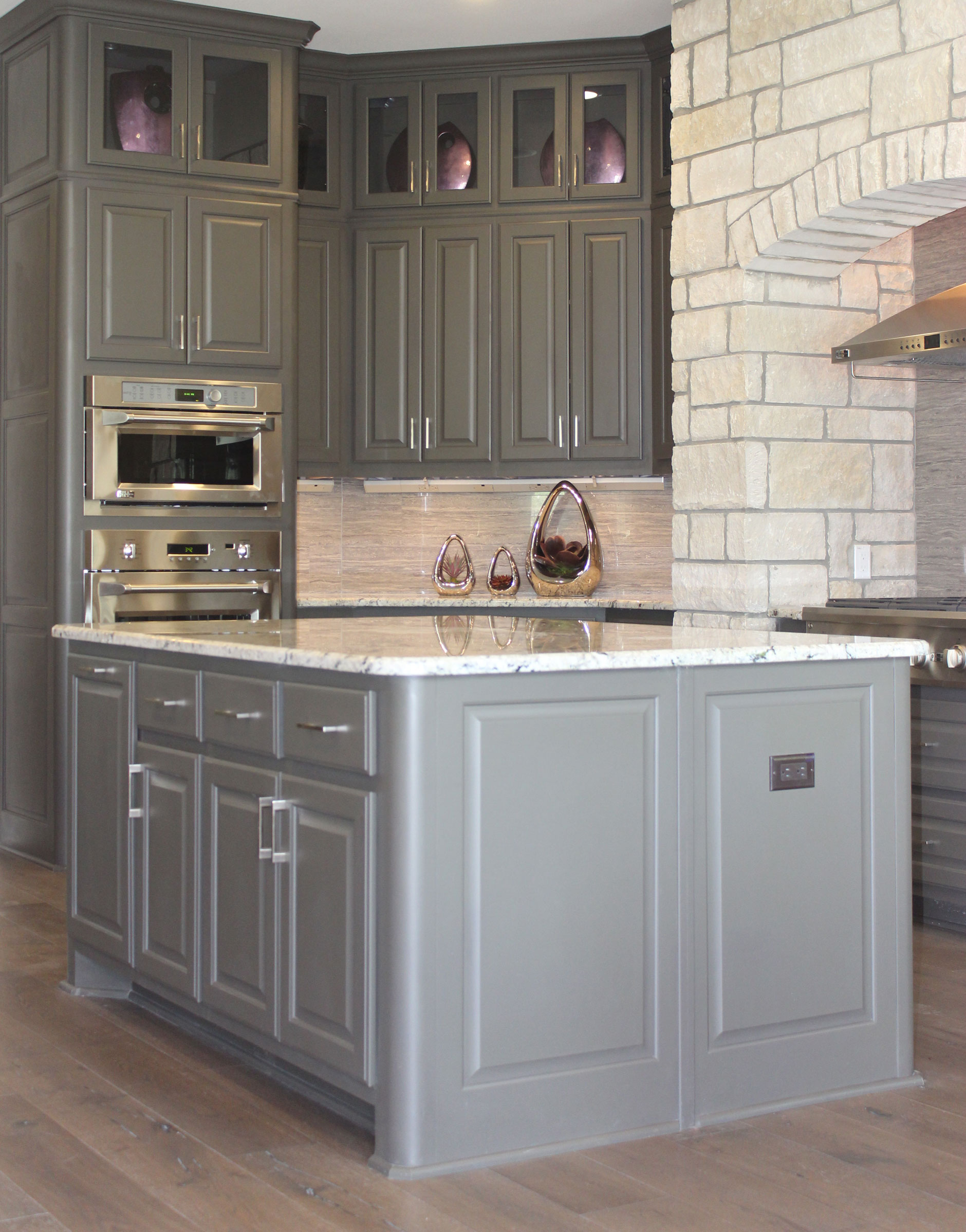 Kitchen island burrows cabinets central texas builder for Kitchen island cabinets