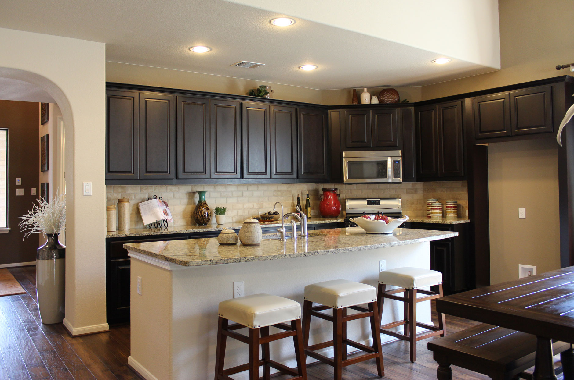 dark brown kitchen cabinets by burrows cabinets in espresso