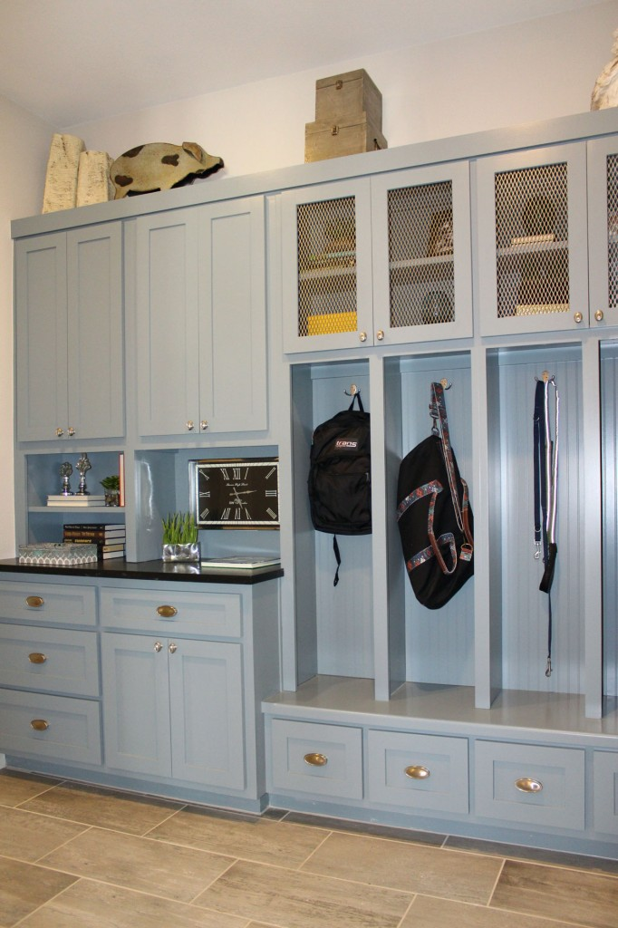 ... Burrows Cabinets Mud Room Storage Cabinets Painted Gray Blue Burrows  Cabinets Kitchen ...