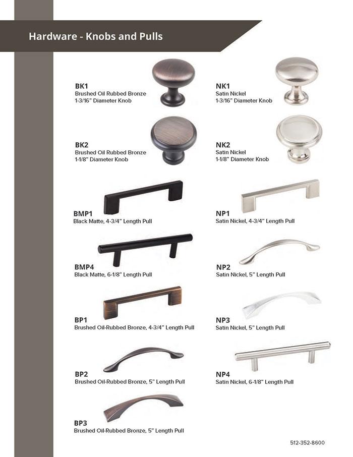 Burrows Cabinets 2020 door hardware options