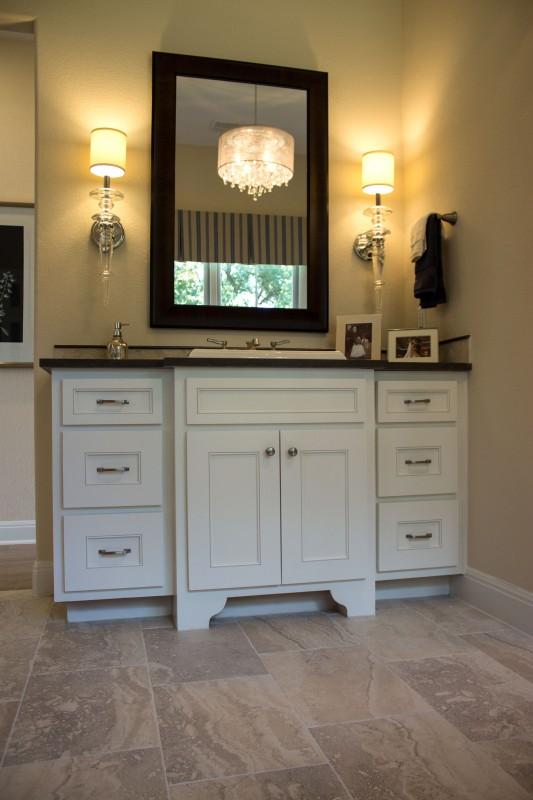 Burrows Cabinetsu0027 Bathroom Vanity With Kensington Doors And Scrolled Feet