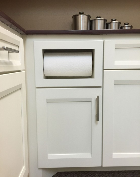 Burrows Cabinets custom paper towel drawer