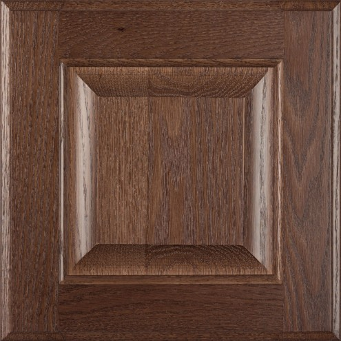 Burrows Cabinets' red oak raised panel door in Barbado