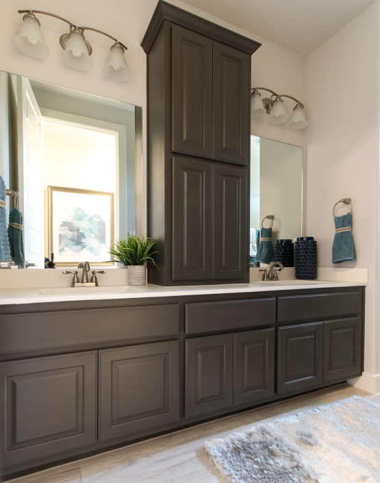 Burrows Cabinets' bathroom cabinets in Umber