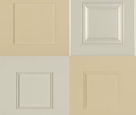 Crema and Dorian neutral paint colors for cabinets
