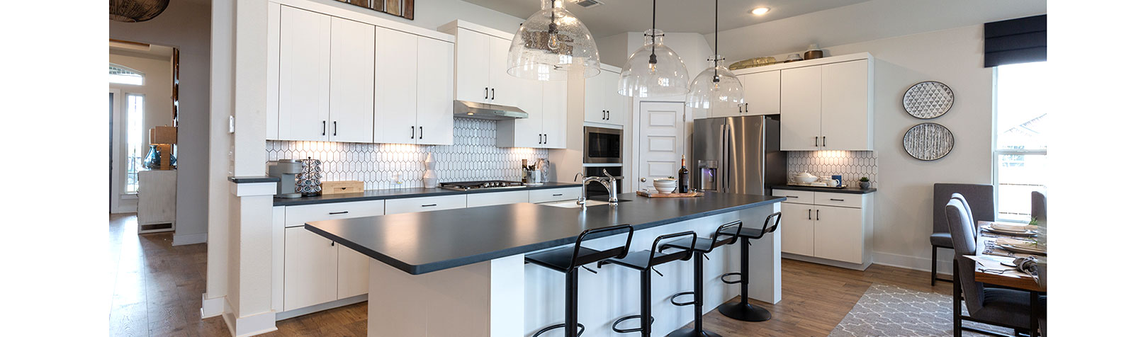 Kitchen with EVRGRN Luxe cabinets