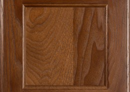 Burrows Cabinets flat panel door in Hickory Ambrose