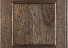 Burrows Cabinets flat panel door in Hickory Driftwood