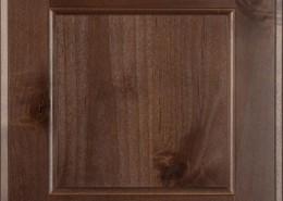 Burrows Cabinets' flat panel door in Knotty Alder Barbado