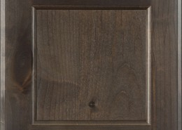 Burrows Cabinets' flat panel door in Knotty Alder Driftwood