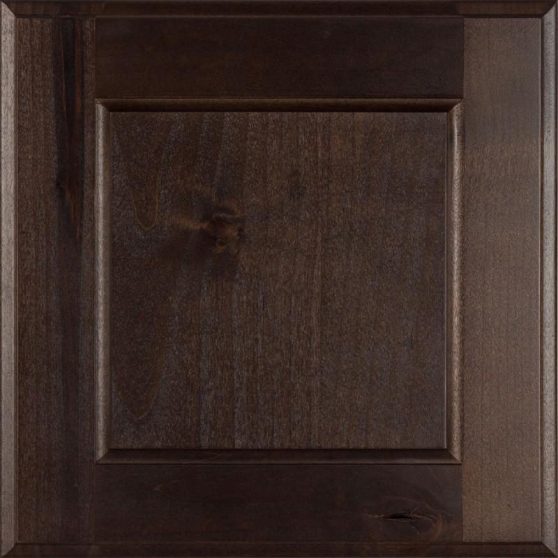 Burrows Cabinets' flat panel door in Knotty Alder Kona