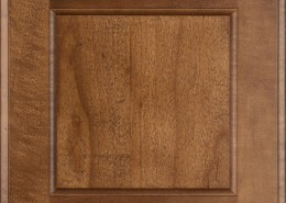 Burrows Cabinets' flat panel door in Maple Toffee