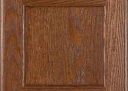 Burrows Cabinets flat panel door in Red Oak Ambrose