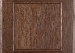Burrows Cabinets flat panel door in Red Oak Barbado