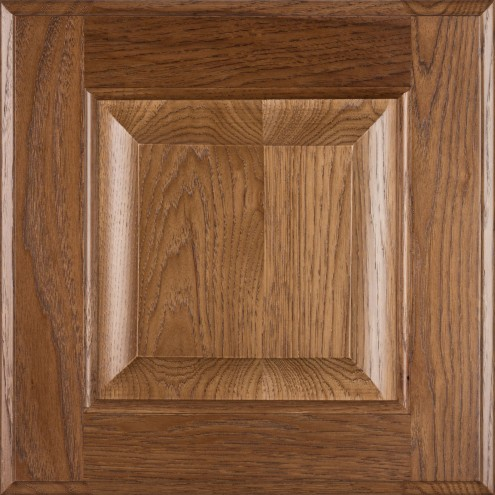 Burrows Cabinets' hickory raised panel door in Bali