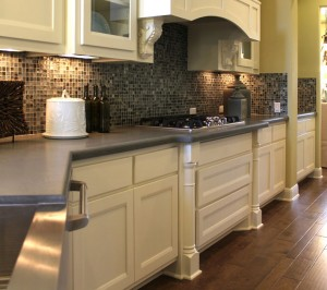 Burrows Cabinets kitchen with Camley door style and Shaker Posts (C) 2014 Burrows Cabinets