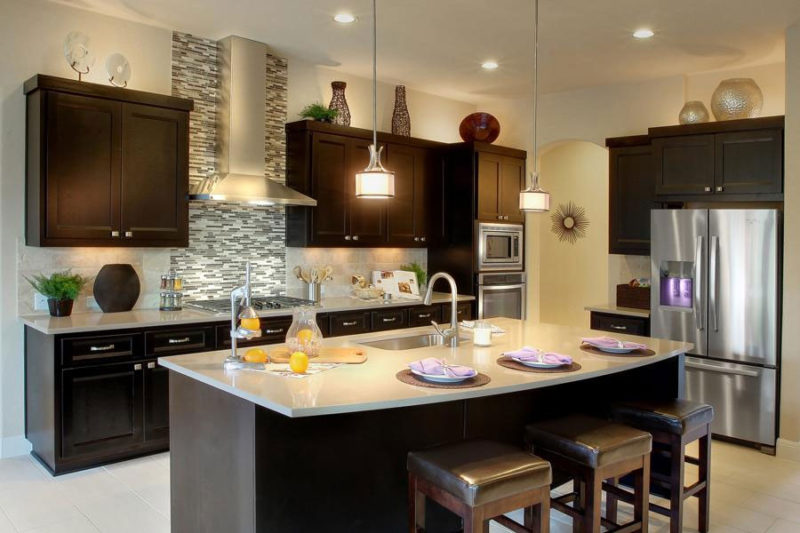 Burrows Cabinets' kitchen with dark finish