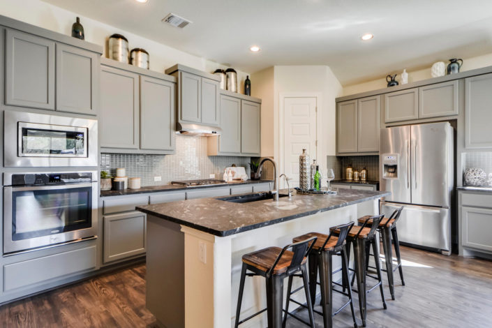 Burrows Cabinets gray kitchen cabinets