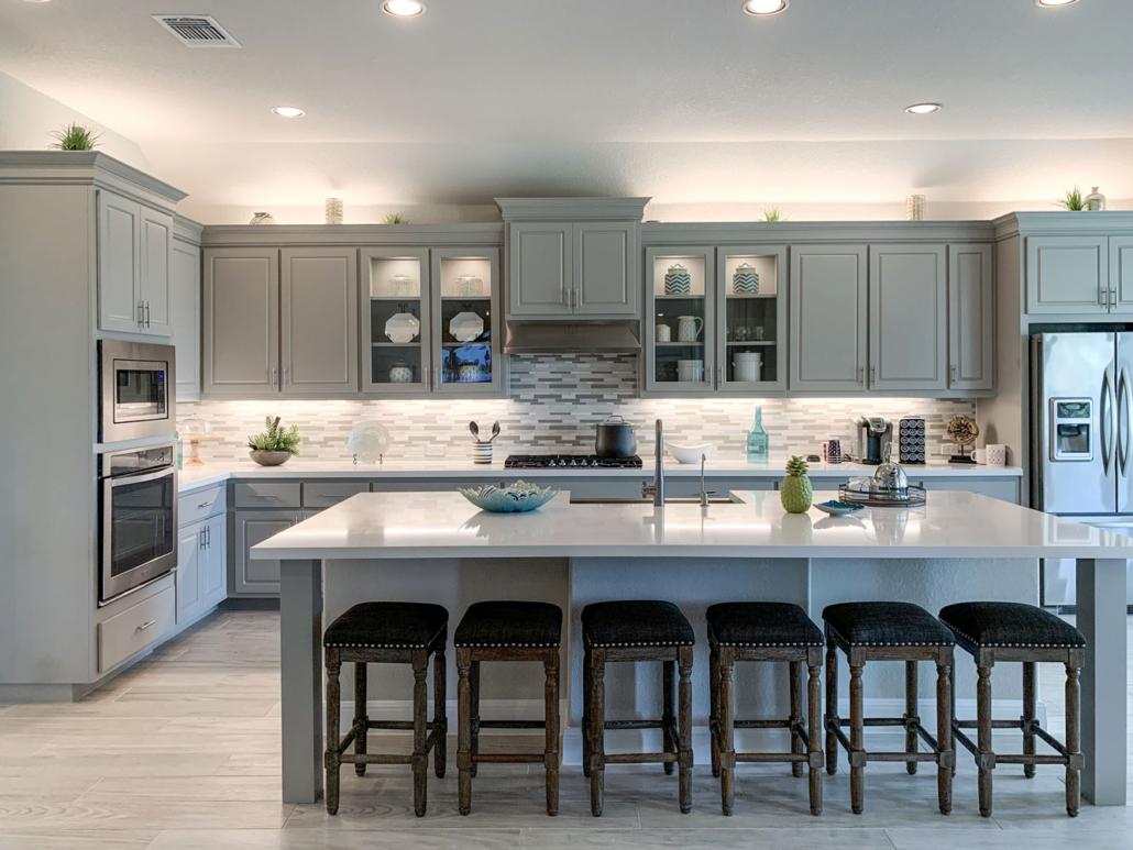 Grey Kitchen with Travis doors