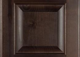 Burrows Cabinets' knotty alder raised panel door in Kona