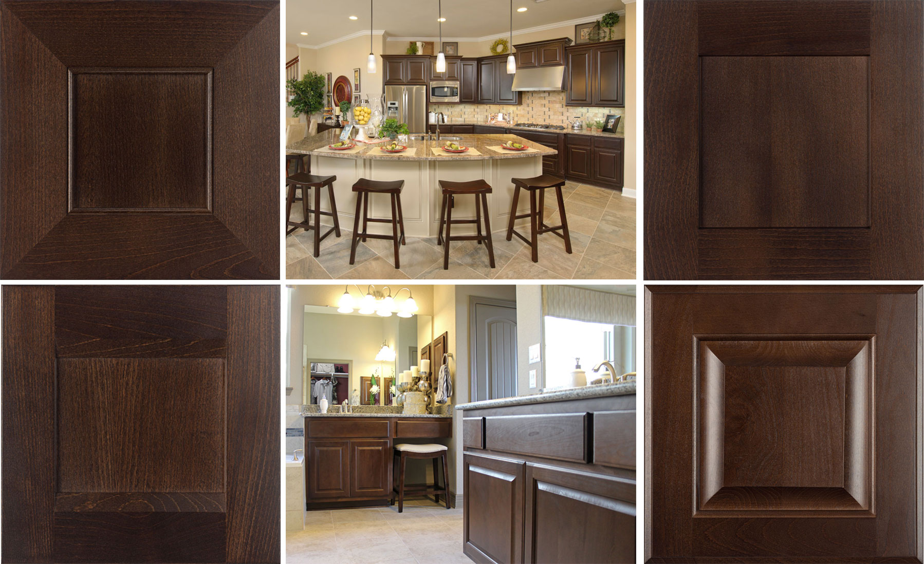 Kona Stain Color Is A Popular Choice Burrows Cabinets