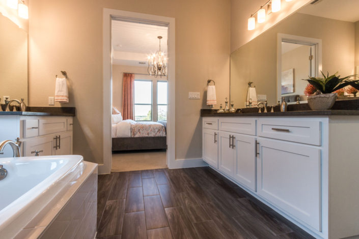 Burrows Cabinets Master Bath with Shaker doors in Bone white