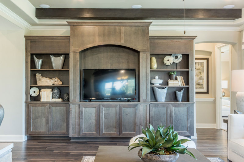 Media entertainment center cabinet in Maple Driftwood
