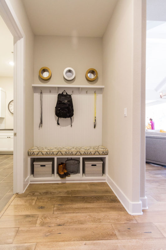 Burrows Cabinets' Mud Room cabinets in Bone