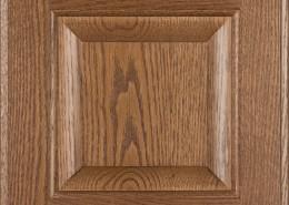 Burrows Cabinets' red oak raised panel door in Bali